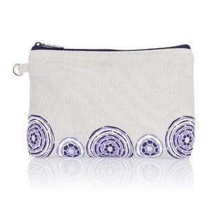 Mini Zipper Pouch -Grey with Geo Pop
